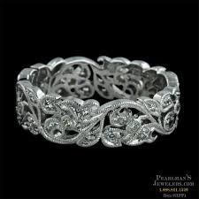 floral wedding band beverley k jewelry 18kt white gold diamond floral wedding band