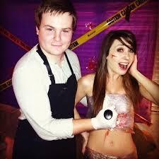Fun Couples Halloween Costumes Butcher Serial Killer Victim Couples Costume Idea Funny