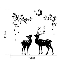 home decor dropship moonless deer silhouettes christmas decoration decal window stickers