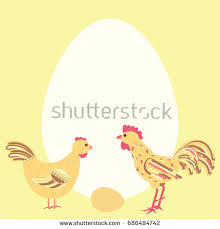 greeting card template new born chicken stock illustration