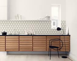 wallpaper for kitchen backsplash hexagon backsplash wallpaper in the kitchen kitchen