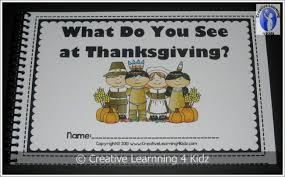 what do you see at thanksgiving cut paste book digital