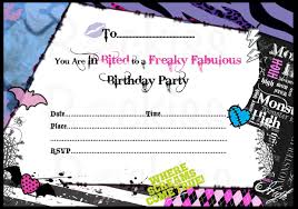monster invitation monster high party invitations theruntime com