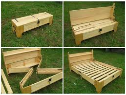 Folding Bed Frame Folding Bed Frame Bench Rebrn