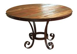 painted round dining table rustic round diniing table