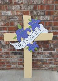 he is risen make your own yard cross easter