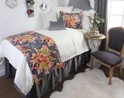dorm bed skirt etsy