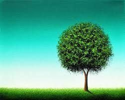 minimalist green tree print emerald green tree art housewarming