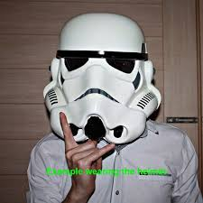 1 1 scale halloween costume mask star wars stormtrooper helmet