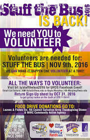 salvation army thanksgiving volunteer annual stuff the bus event nov 9 western illinois university