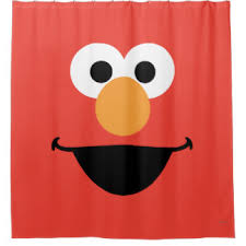 Elmo Bathroom Set Elmo Sesame Street Shower Curtains Zazzle