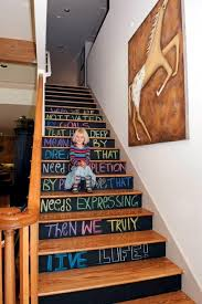 Staircase Decorating Ideas The Staircase Decorating Ideas With Paint Leftover Wallpaper And