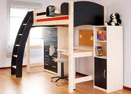 Bunk Bed With Desk Exciting Childrens Bed With Desk Underneath 88 In Home Designing