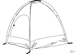 camping tent coloring free printable coloring pages