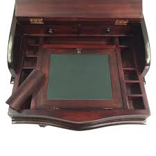 Antique Style Writing Desk Solid Mahogany Wood Davenport Writing Desk Antique Reproduction