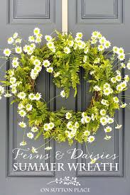 summer wreath diy easy fern summer wreath on sutton place