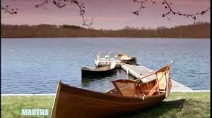 video wooden adirondack guide boat with oars martha stewart