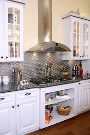 white kitchen backsplash pictures cabinet stove cabinets gray