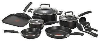 black friday pots and pans set amazon com t fal c530sc signature nonstick expert thermo spot