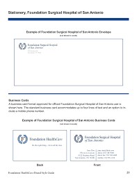 Format Of A Business Card Fdnh Brand Style Guide 2015