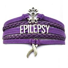 drop shipping purple leather braided epilepsy butterfly cancer