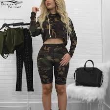 army pattern crop top online shop bonnie forest army fatigue bermuda shorts and crop top