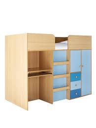 Kids Storage Beds With Desk Kidspace Metro Kids Mid Sleeper Bed Desk And Storage Kids Mid