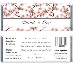 candy bar covers free printables wedding cherry blossom 1 55 oz
