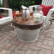 Small Outdoor Table by Butcher Block Wash Tub Table Scavenger Chic