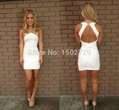 white graduation dresses for 8th grade shop 2015 white homecoming dresses gold sequins halter 8th