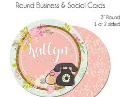 Round Business Card Round Business Card Etsy