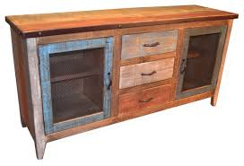 Metal Sideboard Buffet by Reclaimed Wood Sideboard With Metal Door Panels And 3 Drawers