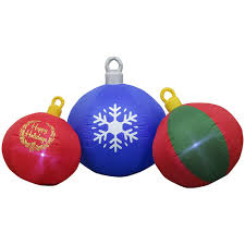 Home Depot Inflatable Christmas Decorations Home Accents Holiday 8 Ft Inflatable Airblown Round Ornament