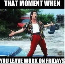 Friday Work Meme - freedom starts on friday evenings watsapping