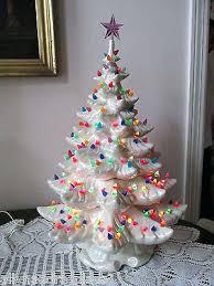 vintage ceramic christmas tree small ceramic christmas tree with lights amodiosflowershop