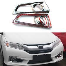 lexus lights for honda city car front fog light lamp cover trim for honda city 6th car styling