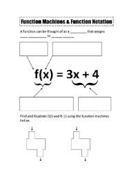 function notation notes and worksheet by camfan54 tpt