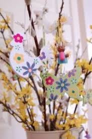 Easter Tree Hanging Decorations by Gisela Graham Wooden Retro Bird Easter Tree Hanging Decorations