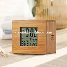 clock radio with night light portable mini natural bamboo retro alarm clock radio with night