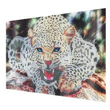 leopard home decor 30x40cm 5d diamond painting leopard embroidery cross stitch home