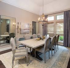 aidan gray dining room traditional with upholstered dining chairs