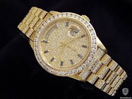 gold lamborghini with diamonds rolex 18k gold day date president full diamond 18038 in keller tx