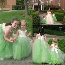2018 cheap flower girls dresses with tutu skirt ball gowns long