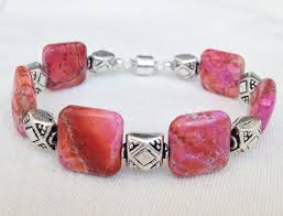 silver magnetic bracelet clasps images Pink jasper and sterling silver bracelet with magnetic clasp size 7 1 jpg
