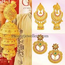 gold jhumka earrings grt gold trendy earrings show