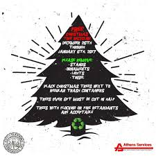 athens services christmas tree recycling city updates city of
