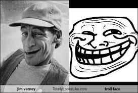 Trollface Memes - jim varney totally looks like troll face totally looks like