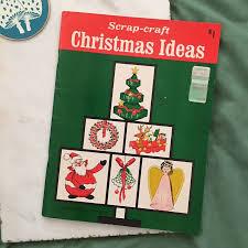 vintage scrap craft christmas ideas craft instructional booklet
