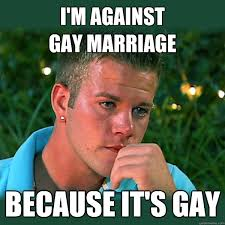 Anti Gay Meme - i m against gay marriage because it s gay bro thoughts quickmeme