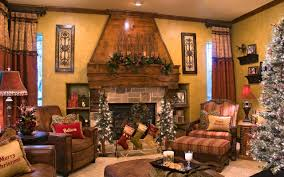 fireplace charming christmas mantel decor with christmas tree and